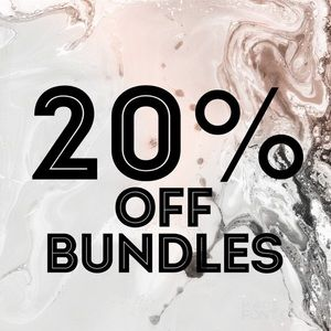 Bundle 2 or more and save 20% on all listings!! 😍